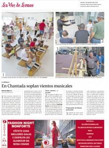 Fecha: 2014/08/07. La Voz de Galicia. Edición de Monforte de Le