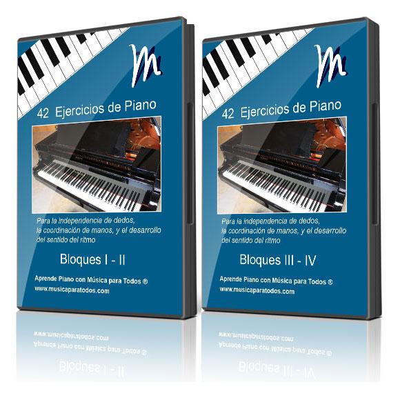Independencia de dedos piano – 42 Ejercicios – Curso de Piano Online