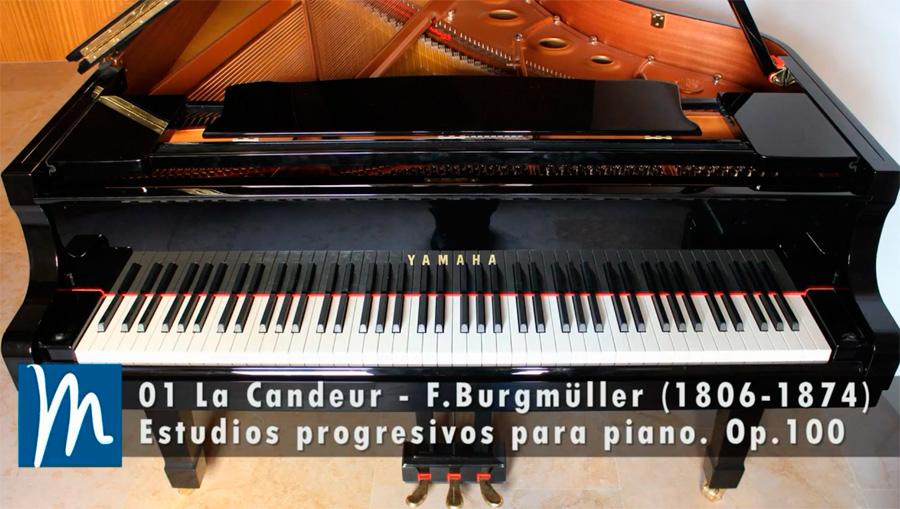 Burgmüller – La Candeur –  Op. 100, No. 1 – Curso de piano