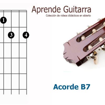Acorde Guitarra B7